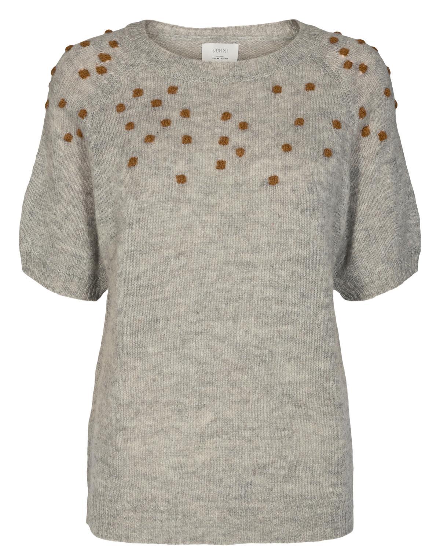 Nümph Cedar pullover, light grey melange
