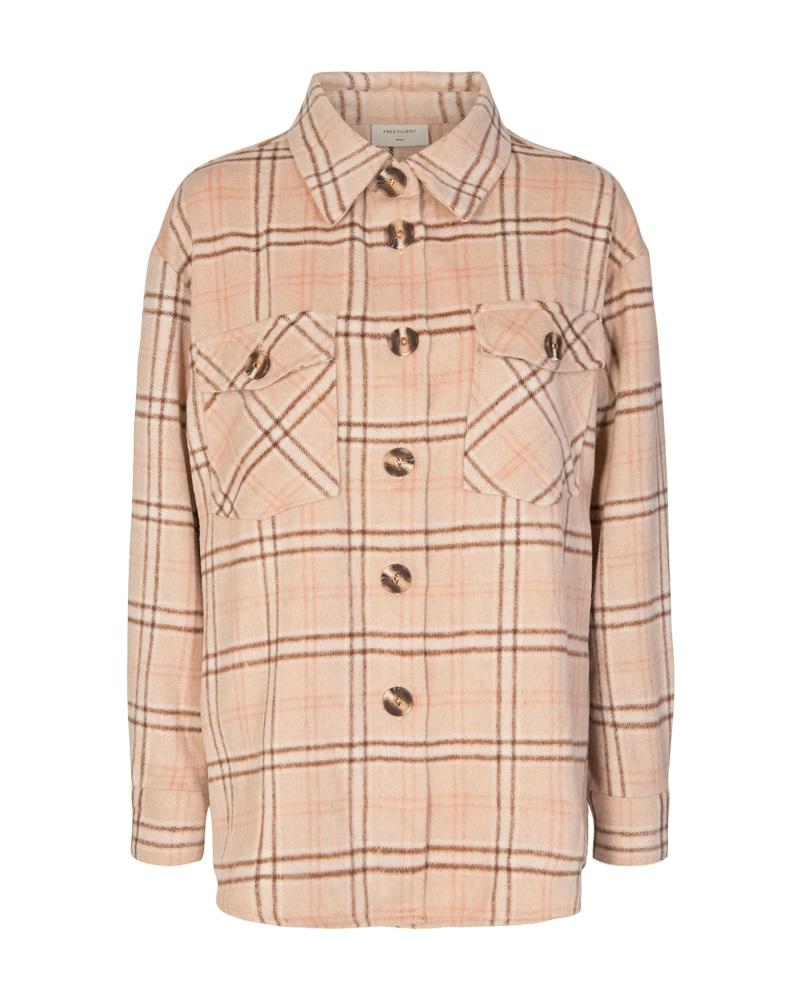 Freequent Bam jacket, beige/rutet