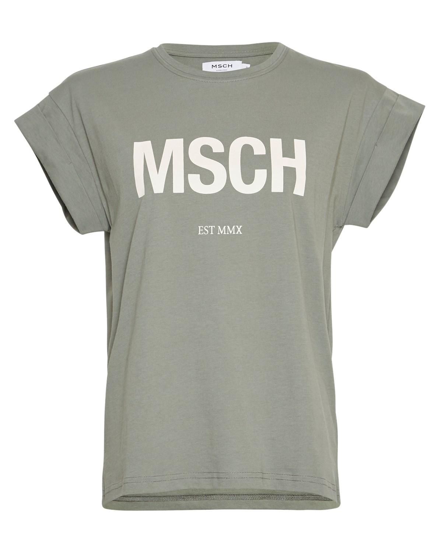 Moss Copenhagen Alva MSCH t-shirt, mosegrønn