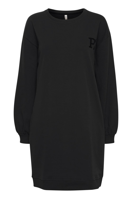 Pulz Grace jersey kjole, sort