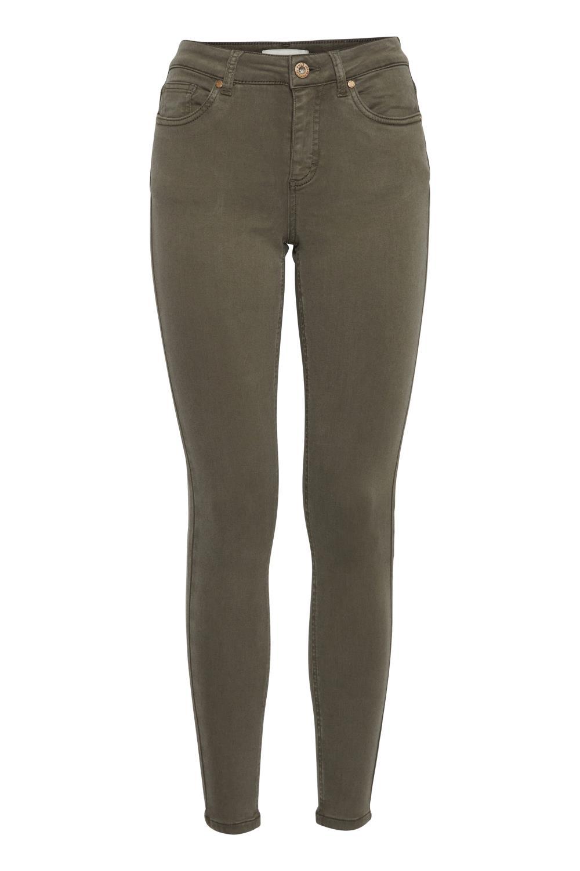 Pulz Emma jeans super skinny, mosegrønn