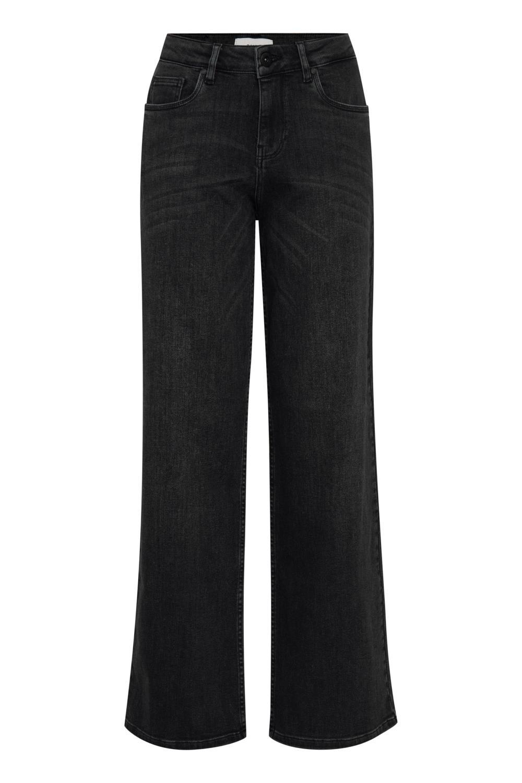 Pulz Emma Jeans Straight Leg, sort denim