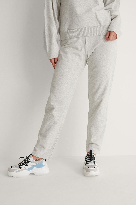 NA-KD Cocoon sweatpants, grey melange