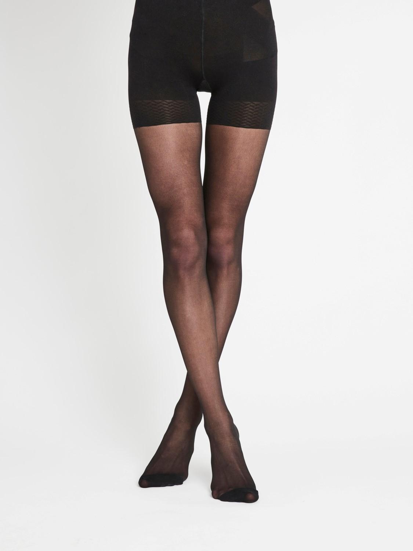 Vila Tassi tights black shape it, 30 denier, sort strømpebukse