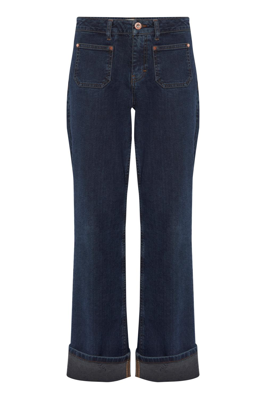 Pulz Emma Jeans Straight Leg, dark blue