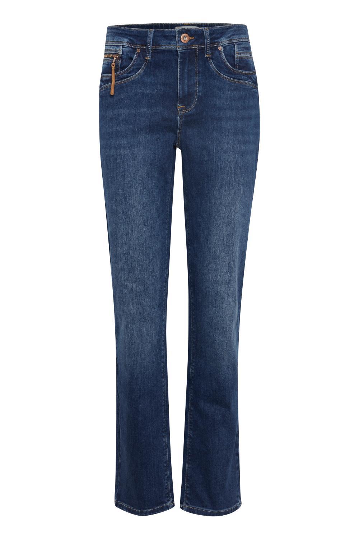 Pulz Emma Highwaist Straight Jeans, medium blue