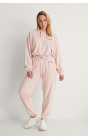 NA-KD Good Will Printed Sweatpants, lys rosa