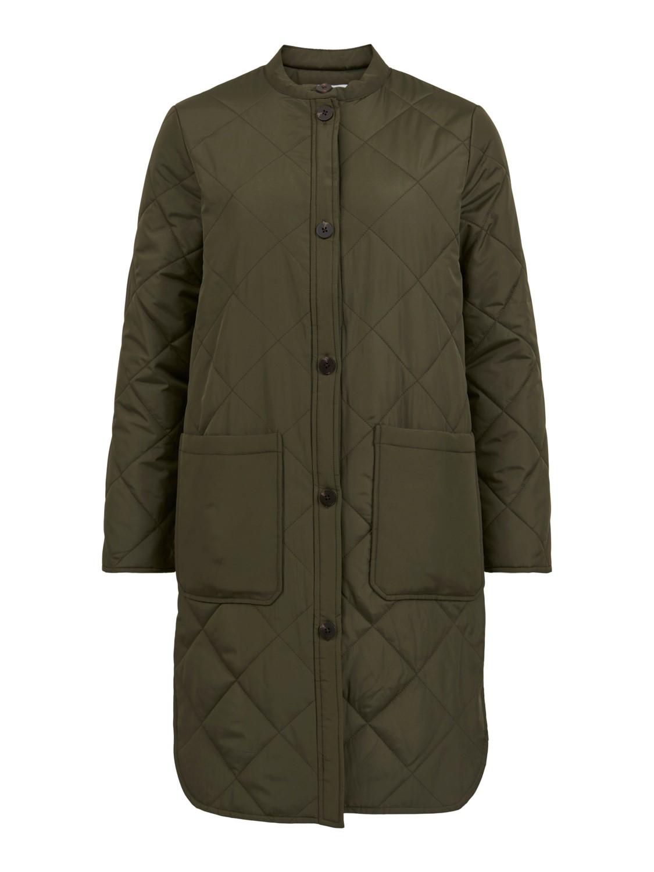 Vila Licia quilted long jacket, grønn jakke