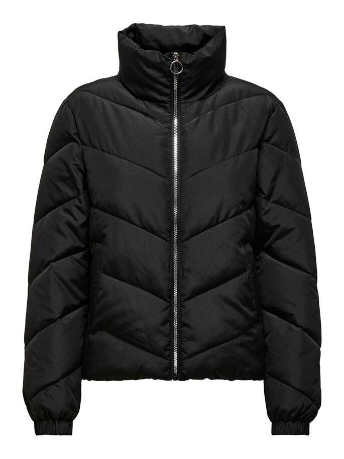 Jacquelin de Yong Finno Short Padded Jacket, sort