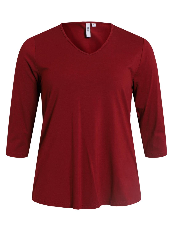 Ciso Basic A-shape T-shirt, dyb rød