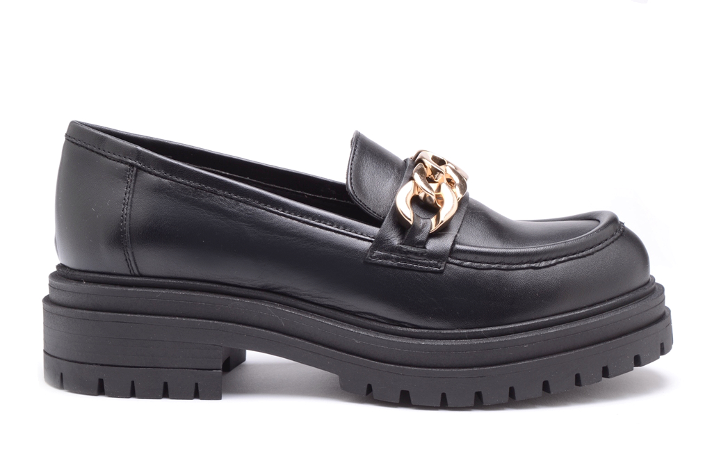 KMB Shoes Dublin Negro, sort mokasin