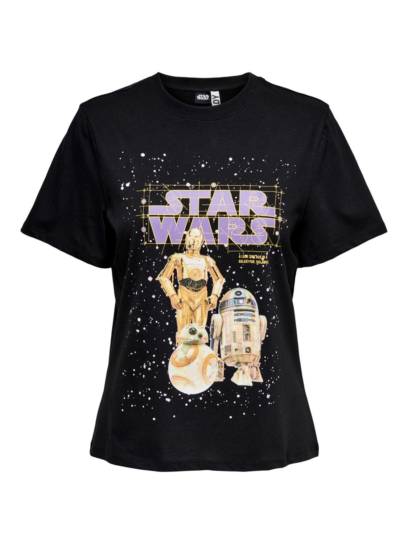 Jacquelin de Yong Star Wars T-shirt, sort