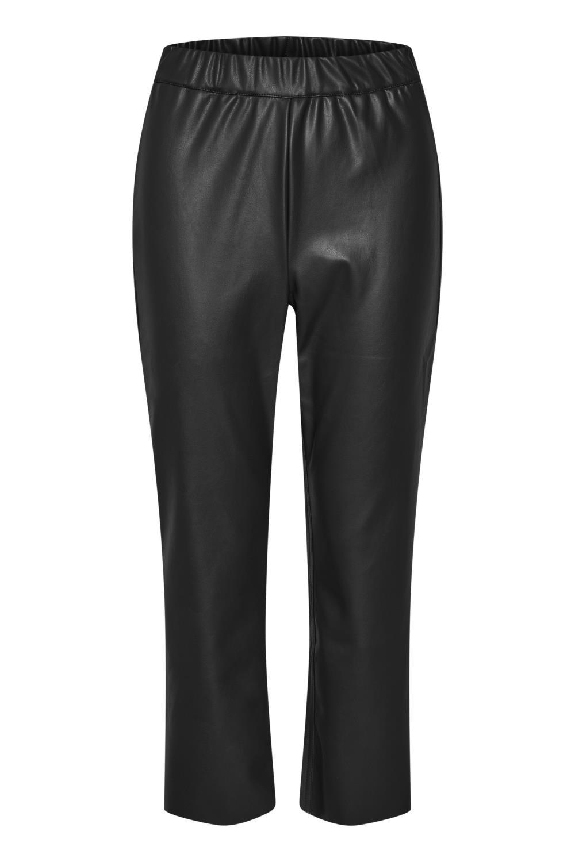 Kaffe Virisa Fake Leather Pants, sort