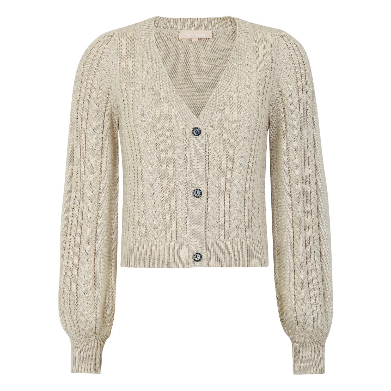 SoftRebels Kristi Cardigan Knit, lysgrå