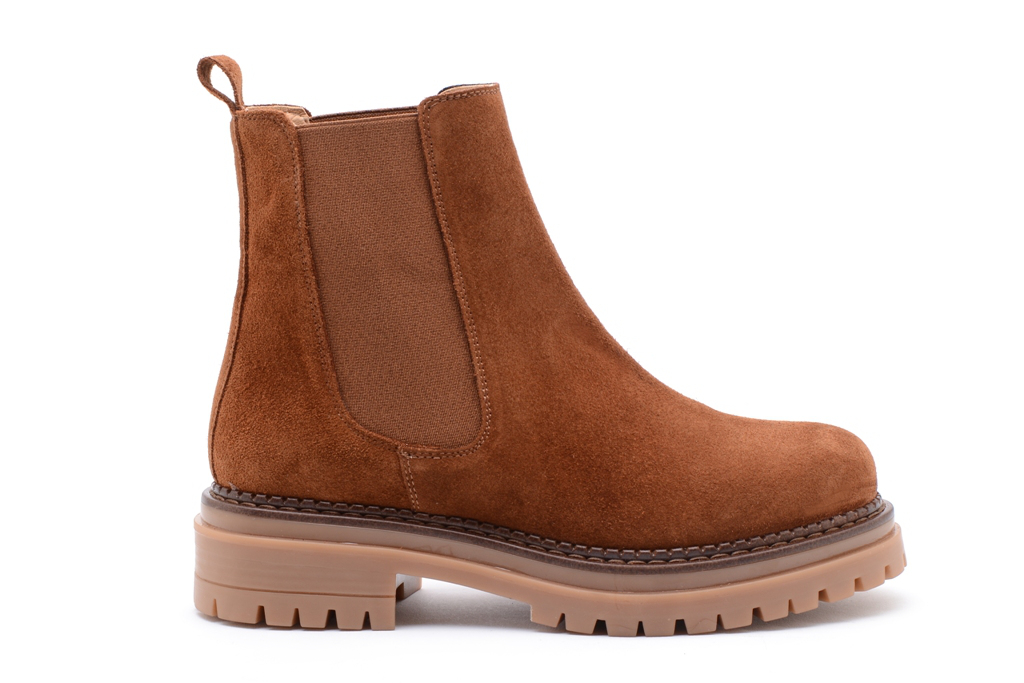 KMB Shoes Crosta Marrow, brun semset boots