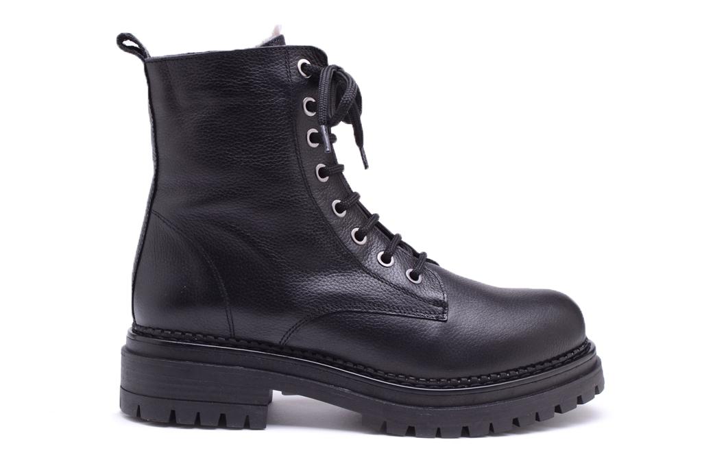 KMB Shoes Napa Batan Negra, fôret skolett sort