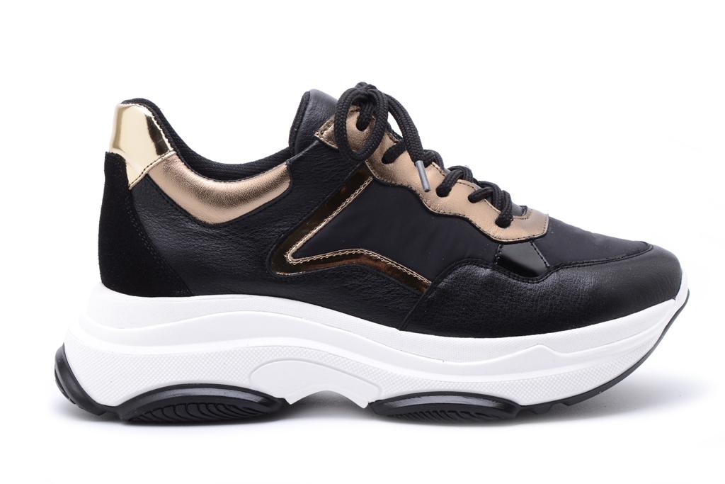 KMB Shoes Napa Negro, sort skinn sneakers