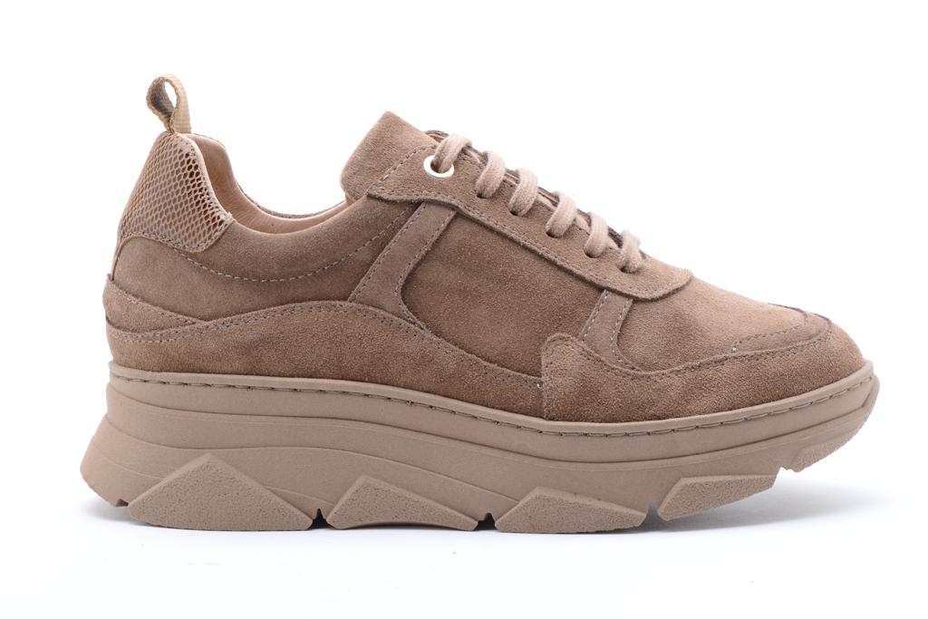 KMB Shoes Crosta 292x Taupe, lys brun skinn sneakers