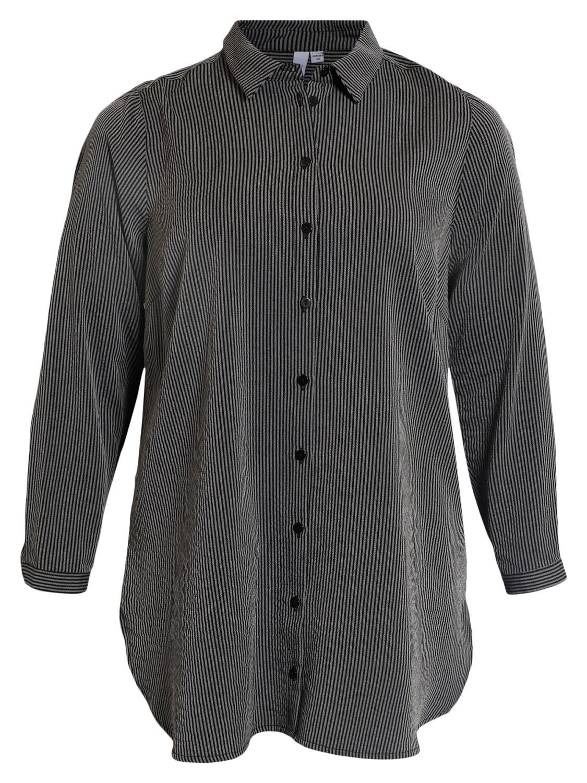 Ciso stripet storskjorte, sort/grå