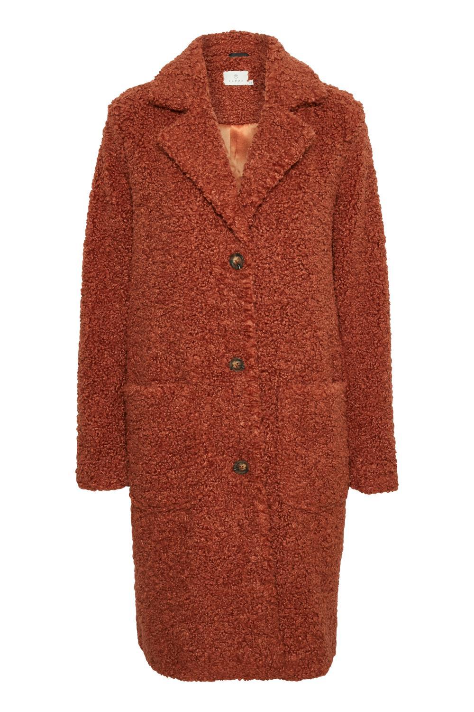Kaffe Balma teddy coat, brun