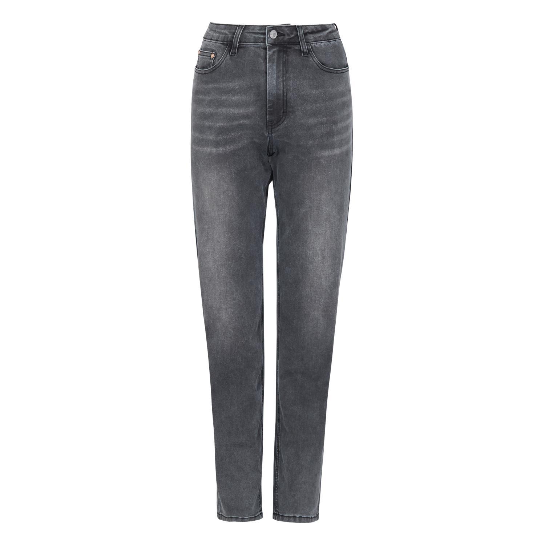 Soft Rebels SRHighwaist long straight jeans, grå