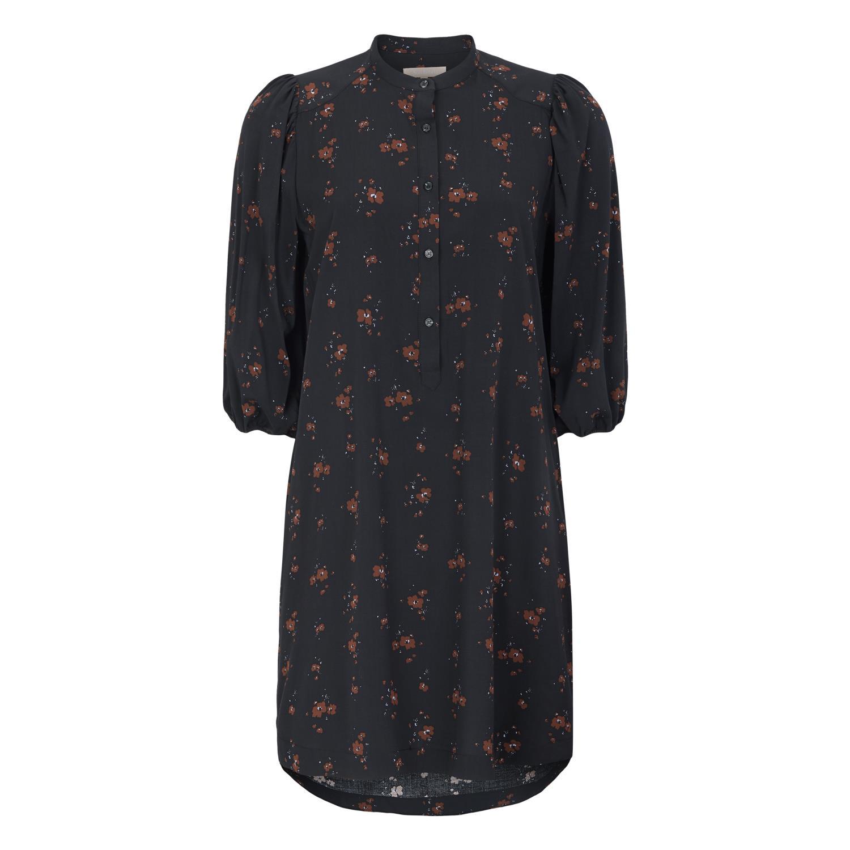 Soft Rebels SREllie 3/4 dress, sort/blomstret kjole