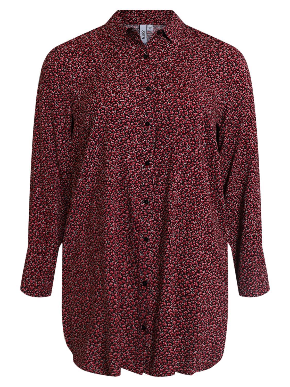 Ciso småblomstret storskjorte, sort/rød