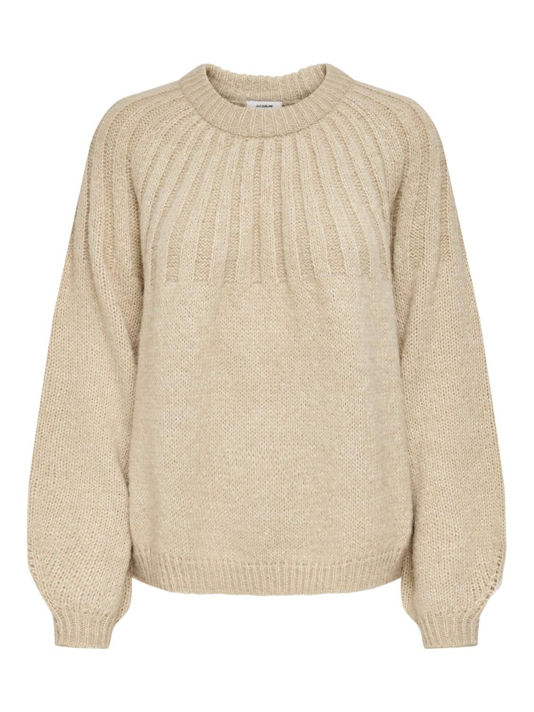 Jacqueline de Young Maiken, beige strikkegenser