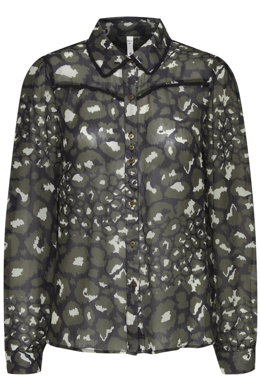 Pulz Monica Blouse, mønstret viskose bluse