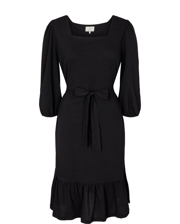 Nümph Benda Dress, sort med kappe