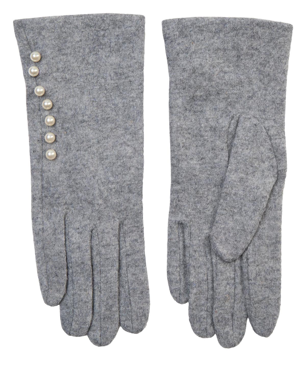 Nümph Perly Woll Glove, lys grå ull hanske
