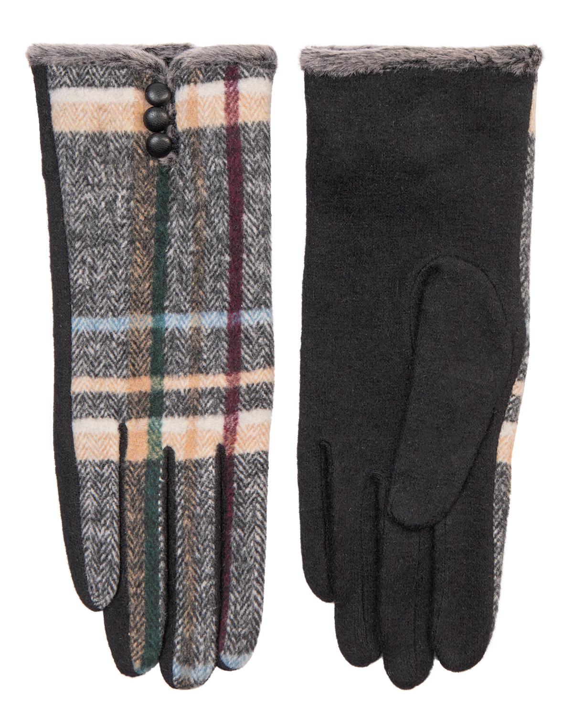 Nümph Helena Wool Glove, mønstret ull hanske