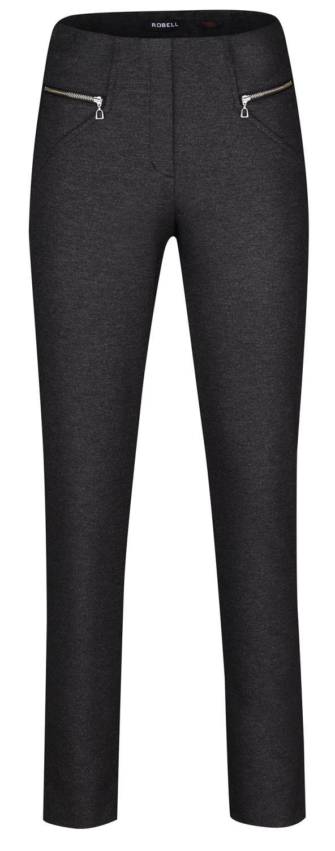 Robell Mimi bukse, 75cm, mørk grå melert, ull/viskose