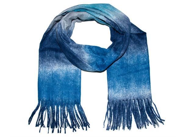 IntexScandia Stripet skjerf i blåtoner