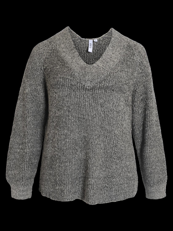 Ciso grå/melert strikkegenser