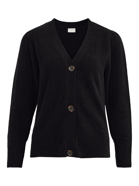 Vila Eshy V-neck L/S knit cardigan, sort
