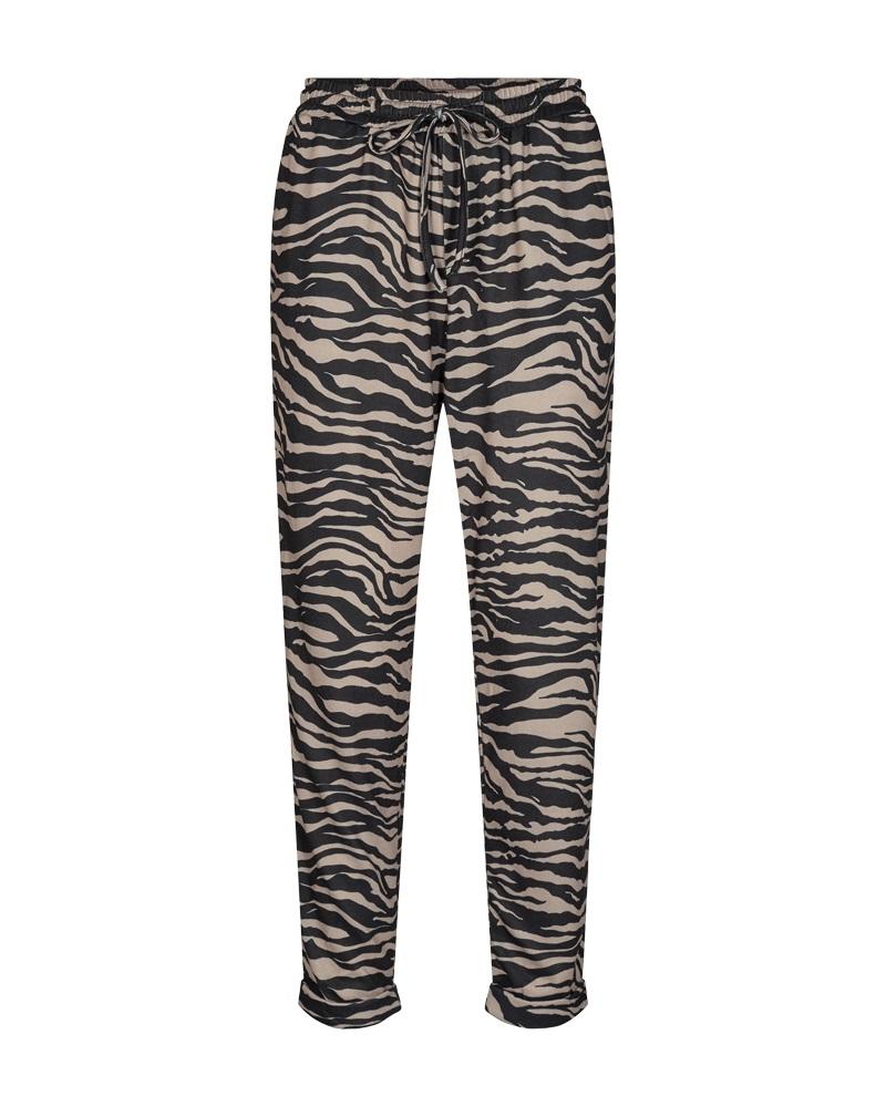 Freequent Elcos pants, sort/brun mmønstret bukse