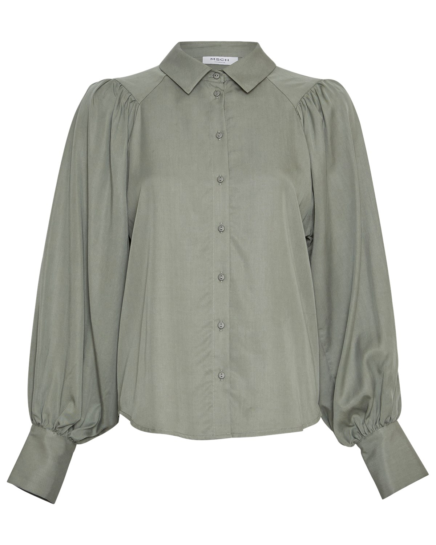 MSCH Aliva Stephie LS shirt, grønn