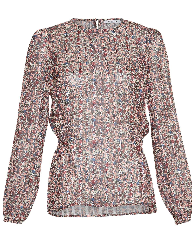 MSCH Kaline LS top, rosa/blå mønstret
