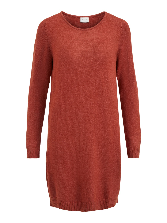 Vila ViRil L/S knit dress, oransje