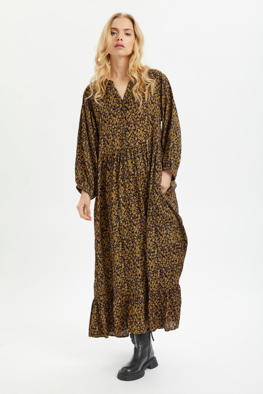 Kaffe Nille Dress, mønstret kjole
