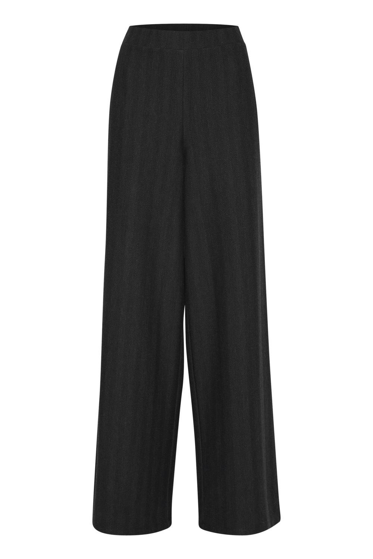 Pulz Hanna pants, mørk grå/mønster