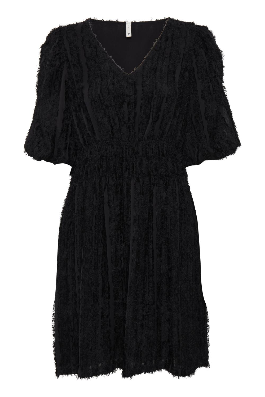 "Pulz Mara dress, sort ""frynset"" kjole"