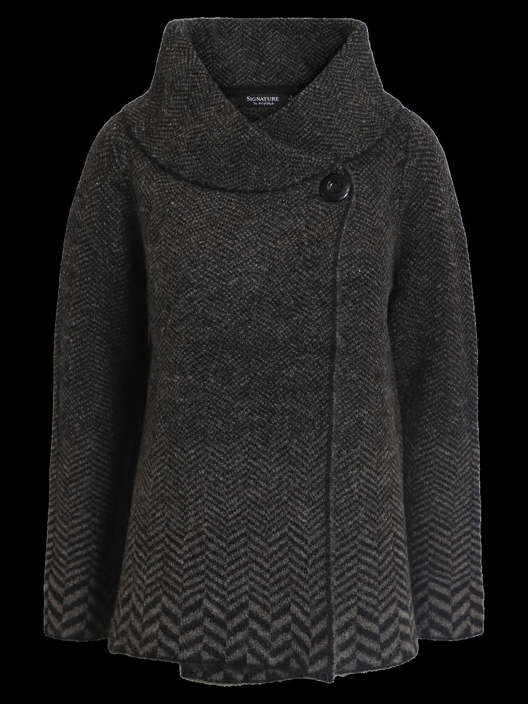 Signature mørk grå/sort mønstret jakke