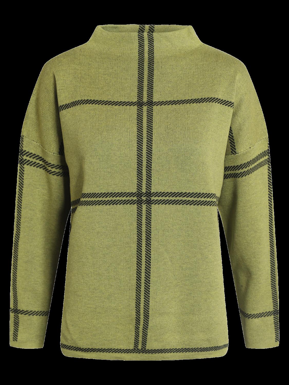 Signature grønn/sort rutet genser