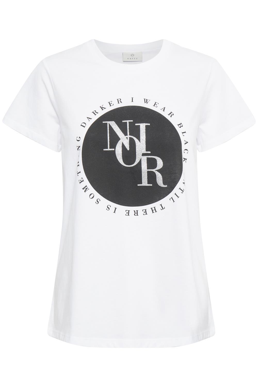 Kaffe Milarna t-shirt, hvit/print