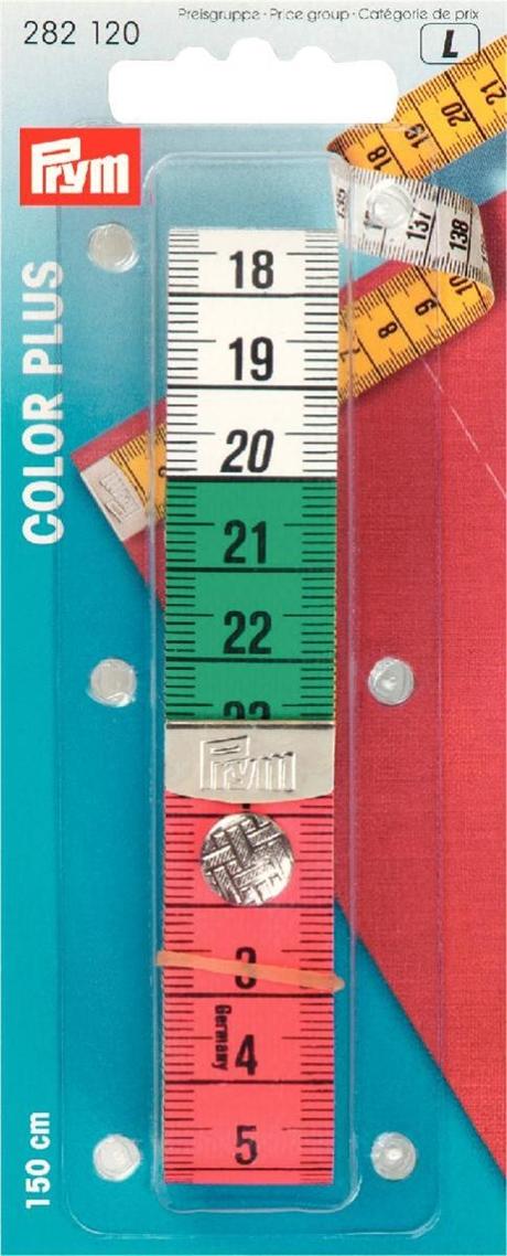 PRYM - Målebånd Farget med trykknapp 150 cm