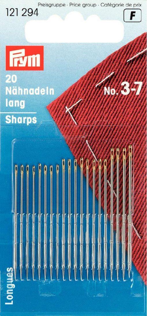 121 294 - PRYM - Håndsynåler sharps blandet no.3-7 20st
