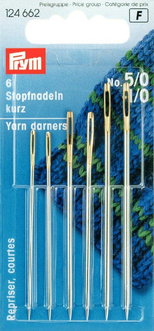 124 662 - PRYM - Stoppnåler korte 5/0 - 1/0 Guld