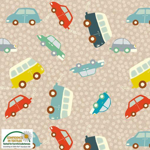 19-266 Jerseystoff med biler